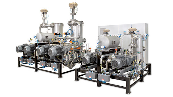 Busch vacuum system for chemical processes with COBRA screw vacuum pumps