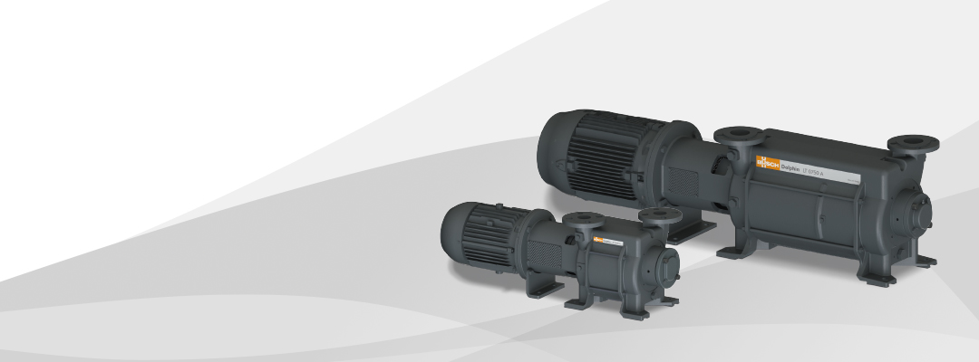 The new generation of liquid ring vacuum pumps Dolphin LM/LT.