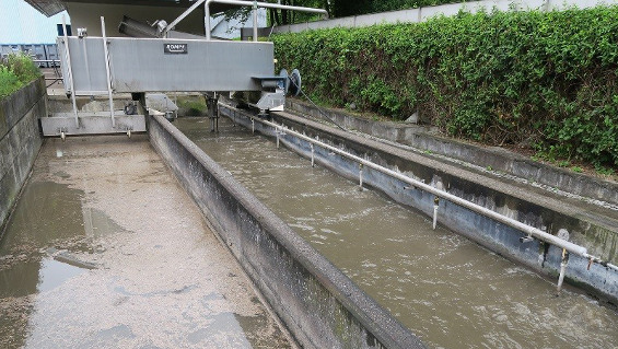 Fig. 1: The sand trap in the Poppenweiler wastewater treatment facility has been in operation since 1976