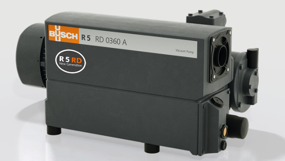 Fig. 1: Vacuum pump from Busch's newest generation: the R 5 RD rotary vane vacuum pump was specifically developed for requirements in vacuum packaging. Source: Busch Dienste GmbH