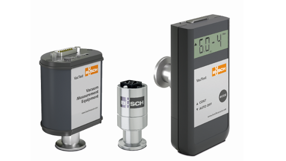 Figure 1: The three product lines of Busch's VacTest vacuum measurement equipment: (from left to right) VacTest Digital Transmitters, VacTest Analog Transmitters, VacTest Mobile Gauges. Source: Busch Dienste GmbH