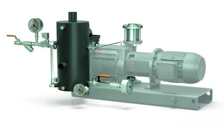 Fig. 4: DOLPHIN liquid ring vacuum pump with an open operating fluid circuit.
